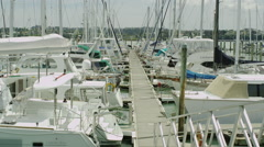 Bayswater Harbor Auckland.  Stock Footage