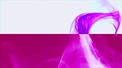 Wave of pinky smoke on pink & white horizontal splited background 2 Stock Footage