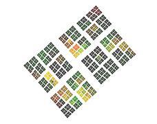 Decorative squares Stock Illustration