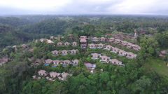 Flying Towards Bali Indonesia Eco Lodges  Stock Footage