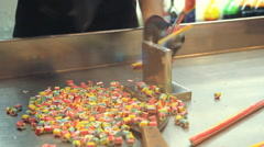 Making custom made candy Stock Footage