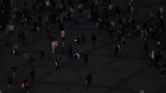 People walking in city night background. Pedestrians walking in city night. Stock Footage