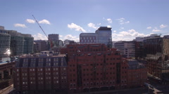 Birmingham 4K Aerial Video clip of Colmore row, Business quater, crane shot, UK Stock Footage