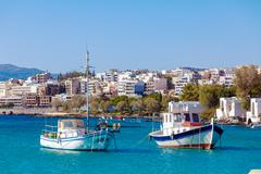 Agios Nikolaos City, Crete, Greece Stock Photos