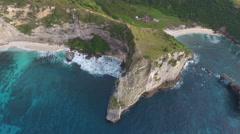 Flying Towards Sea Cliffs in Bali Indonesia Stock Footage