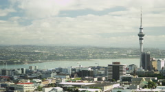 View from Mount Eden Stock Footage