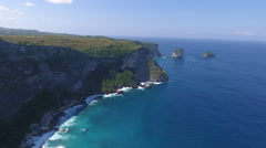 Coastal Cliffs in Bali Indonesia Stock Footage