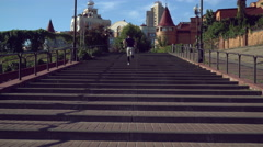 Healthy and sport live in everyday exercises in the morning Stock Footage
