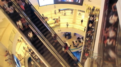 Shopping mall pedestrian, time lapse Stock Footage