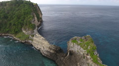 Rising Above Island in Bali Indonesia Stock Footage