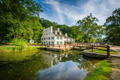 The C & O Canal, and Great Falls Tavern Visitor Center, at Chesapeake & Ohio  Stock Photos