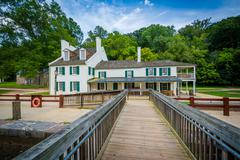 The Great Falls Tavern Visitor Center, at Chesapeake & Ohio Canal National Hi Stock Photos