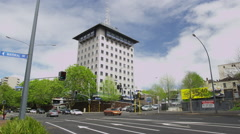 Auckland Central Police Station Stock Footage