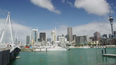 Downtown Auckland with Skytower Stock Footage