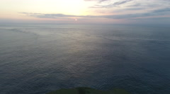 Sunset Over Cliffs and Ocean in Bali Indonesia Stock Footage