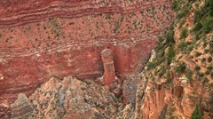 Detail of the Rock Layers at the Grand Canyon. Stock Footage