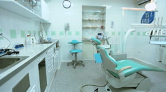 Equipment in the dental office Stock Footage