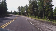Driving Curvy And Bumpy Section Of Highway 180 Toward Flagstaff AZ Stock Footage
