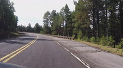 Driving Highway 180 Into Kendrick Park With Humphreys Peak- Time Lapse 30s Stock Footage