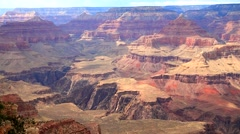 Colorful rock's layers at the Grand Canyon Stock Footage
