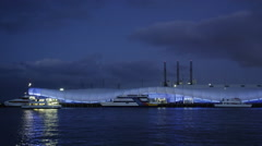 The Cloud at Queens Wharf lit at Night Stock Footage