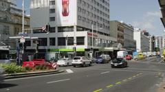 Street Scene Queens Street Stock Footage