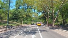 Bike lane Central Park New york Stock Footage