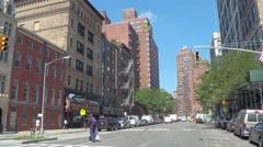 New York East 13th Street Stock Footage