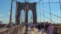 Suspension wires Brooklyn Bridge Stock Footage