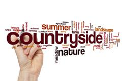 Countryside word cloud Stock Illustration