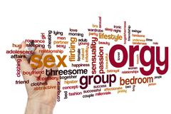 Orgy word cloud concept Stock Illustration