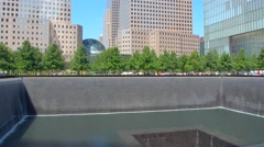 Stock video World Trade Center Tower and Memorial 4k Stock Footage