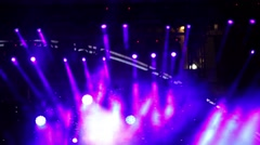 Entertainment concert lighting on stage Stock Footage