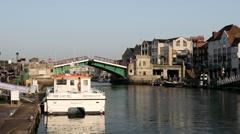 Weymouth in Dorset Harbour Bridge Opening. Stock Footage