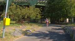Hudson River Greenway Stock Footage