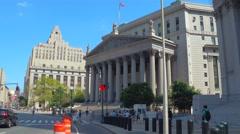 New York City Supreme Court Stock Footage