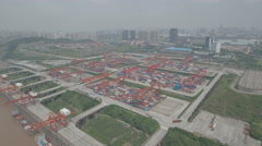 China industry, development hinterland, container terminal Chongqing city Stock Footage