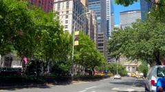 Park Avenue New York Stock Footage