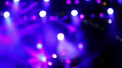 Concert lighting on stage, bokeh Stock Footage