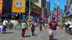 Visit Times Square Summer 2016 Stock Footage