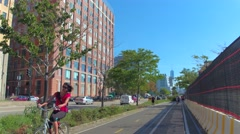 Touring West Side New York Stock Footage