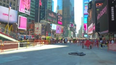 Skyscrapers at Times Square NY Stock Footage