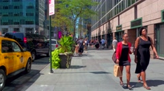 Pedestrian pov Broadway Stock Footage