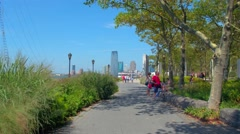 Motion video Battery Park East Coast Memorial Stock Footage