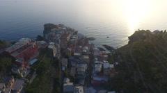 Italy Sunset at Manarola Cinque Terre Stock Footage