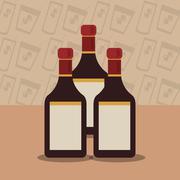 Liquor bottle image Stock Illustration