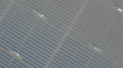 Abstract aerial drone shot of solar panel power plant, renewable energy China Stock Footage