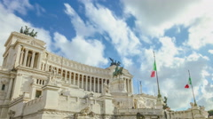 The Vittoriano in Rome Stock Footage