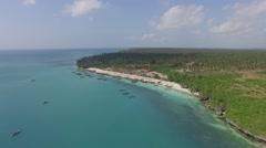 Zanzibar Shore aerial Stock Footage