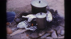 1968: just wanted to do something new to surprise my husband that i can camp Stock Footage